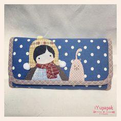 #wallet #handmade #fabricbag #applique #quilt