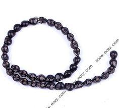 10x8mm Black Howlite Turquoise Skull Head DIY Loose Jewelry Bead