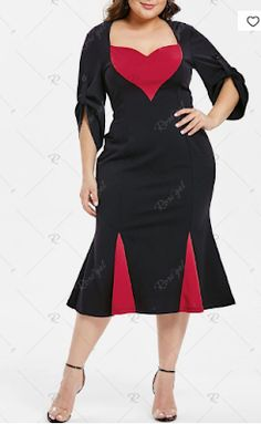eb5d5a670bf 2019 Plus Size Two Tone Mermaid Dress - 49% off