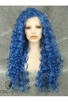 Curly Blue Long Hair