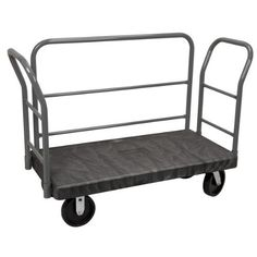 """Akro-Mils V90263H20121017 VERSA/Deck 2000-Pound 30-Inch by 60-Inch Cap Plastic Platform Truck with 6-Inch Polyurethane Casters, Black by Akro-Mils. $708.43. VERSA/Deck Carts are available in two sizes — 24"""" x 48"""" and 30"""" x 60"""". Carts are outfitted with handles for durability, comfort and excellent control at all times. All VERSA/Deck Cart platforms have non-skid surfaces that are designed to accept a wide range of handle and rail combinations. Choose the deck s..."""