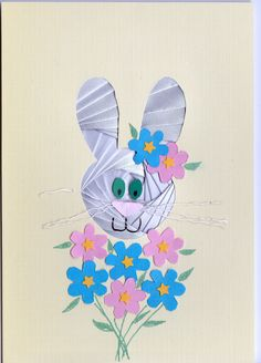 Iris Folded Easter bunny