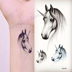 1Pcs Fashion Body Art Removable Waterproof Temporary Tattoo Stickers Fake Tattoo Unicorn Body Art