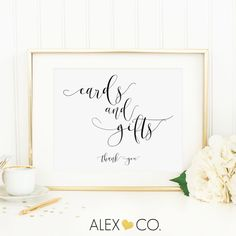 Cards And Gifts Sign By Alexandcoprintables