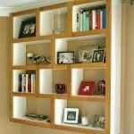 Wood trimmed shelves