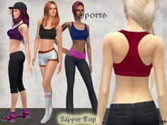 Bereth's Sports Bra with Zipper