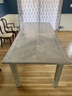Mirrored chevron table by CG Wood Creations Can Design, Modern Design, Chevron Table, Farmhouse Style Table, Wood Creations, Reclaimed Barn Wood, Custom Woodworking, Beautiful Family, Wood Species
