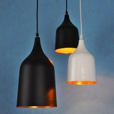 Bottle-Shaped Mini Single Pendant Light Black/White - US$75.99 : Homary.com