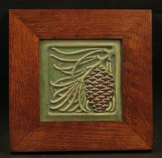 Decorative Tile Frames Framed Oak Leaf And Acorn Tilefay Jones Day  Framed Art Tile