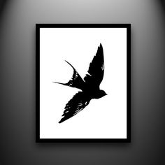 Swallow Hand-Cut Paper Silhouette