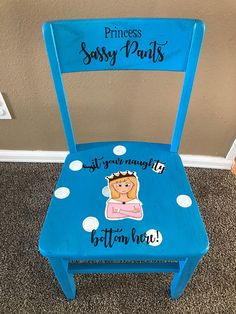 Beach Chairs And Umbrellas Diy Wood Projects, Furniture Projects, Kids Furniture, Time Out Stool, Princess Chair, Thinking Chair, Summer Arts And Crafts, Preschool Furniture, Rocking Chair Nursery
