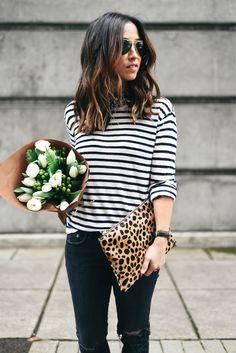 Stripes + leopard.