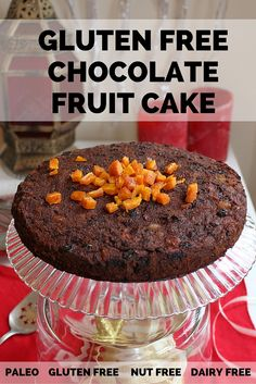 Finally, an AMAZING Fruit Cake!! Full of dried fruits and chocolate! Gluten-free and dairy-free too!