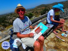 workshop-painting-with-acrylic-paint - Zorbas Island apartments in Kokkini Hani, Crete Greece 2020 Heraklion, Naxos, Crete Holiday, Crete Greece, Workshop, Island, Pictures, Painting, Holidays