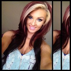 love these hair colors... wish I had ballz to do this!