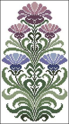 This Pin was discovered by SEH Cross Stitch Heart, Cross Stitch Borders, Cross Stitch Flowers, Counted Cross Stitch Patterns, Cross Stitch Designs, Cross Stitching, Cross Stitch Embroidery, Embroidery Patterns, Stitch Witchery