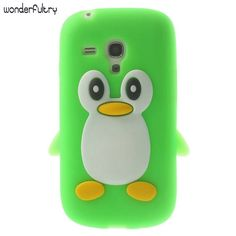 Wonderfultry Case Capa For Galxy S3 Mini Cases 3D Penguin Soft Silicone Phone Cover Coque for Samsung Galaxy S3 Mini i8190  #Affiliate