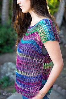 I'm always such a fan of being able to combine my love of yarn with super functional items that I KNOW I'll use again and again. Which is just one of the many reasons I'm in love with this cute crochet top pattern I'm sharing with you today. The Everyday Top adds the perfect bit of style and modesty to summer shirts. Because the pattern features mesh-like stitching, it's cool and comfortable to wear….even in the heat of summer. Best yet, the pattern is written in sizes Child Small through…