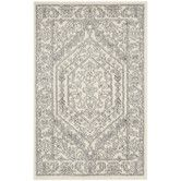 Found it at Wayfair - Adirondack Ivory/Silver Area Rug