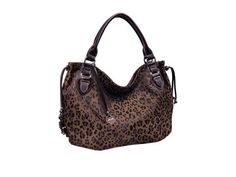 Vegan Shoes & Bags: Cute Vegan HandBag- Fabulous Leopard in Brown
