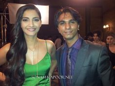 Sonam Kapoor on the sets of Lux Ad