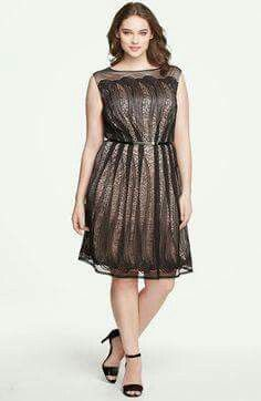 This is the perfect holiday dress Eliza J Stripe Metallic Fit