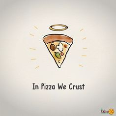 pizza hope god halo Facebook instagram post illustration party