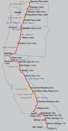 Pacific Crest Trail~ one of my sons accomplishments + Appalachian Trail, Continental Divide next = Triple Crown~