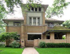 Rollin Furbeck House. Oak Park, Illinois. 1897. Frank Lloyd Wright. Prairie Style