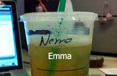 And Emma turned into Nemo. | 27 Times Starbucks Failed So Hard It Almost Won. These are HILARIOUS.