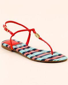 95cbcd0355d6f Tory Burch  Emmy  Patent Thong Sandal Comfy Shoes