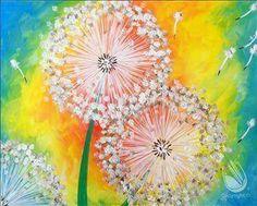Bright dandelions