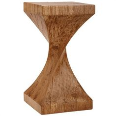 Weston Twisted Wood Table >> Super!