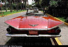 Old red car, old Havana. Cuba