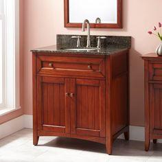 """30"""" Halifax Vanity for Undermount Sink - Medium Cherry"""