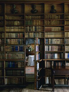 """""""Secret Library Door"""" from Robert O'Byrne and Simon Brown's  """"Romantic Irish Homes"""""""