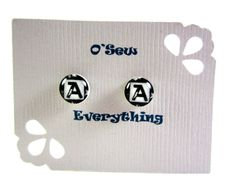 Initial+Earrings+by+Oseweverything+on+Etsy,+$7.00