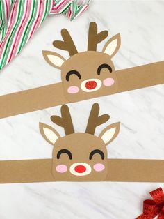 Weihnachten Rentier Geweih Bastelset Kinder Party Aktivität Tisch Spiel