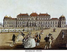 An poster sized print, approx (other products available) - Belvedere Palace. - Image supplied by Mary Evans Prints Online - Poster printed in the USA Fine Art Prints, Framed Prints, Canvas Prints, Vienna Austria, Art Reproductions, Photographic Prints, Wonderful Images, Poster Size Prints, Photo Mugs