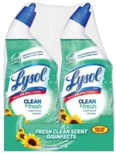 Lysol Cling Gel Country Scent Toilet Bowl Cleaner 2 Bottles for sale online