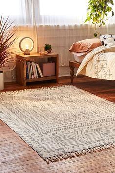 Ari Block Printed Rug | Urban Outfitters