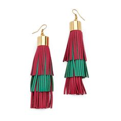 Gorjana Havana Triangle Tassel Earrings NCTSpQjn