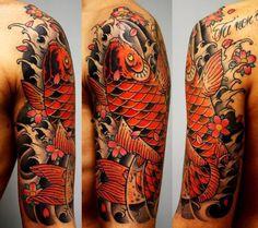 Japanese tattoo coi fish
