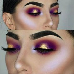 If you'd like to enhance your eyes and increase your good looks, using the very best eye make-up tips and hints can help. You want to be sure to put on make-up that makes you start looking even more beautiful than you already are. Pretty Makeup, Love Makeup, Makeup Inspo, Makeup Art, Gorgeous Makeup, Purple Makeup, Amazing Makeup, Glitter Makeup, Perfect Makeup
