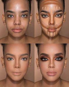 Makeup 101, Makeup Inspo, Makeup Hacks, Beauty Makeup, How To Makeup, Makeup Ideas, Basic Makeup, Makeup Stuff, Contour Makeup