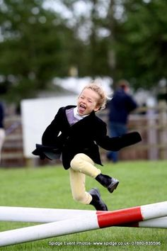 All horsey people have done this as kids when running the course :p
