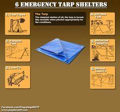 Tarp shelters...