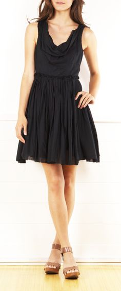 All Saints Dress - love the cowl neck on this LBD!