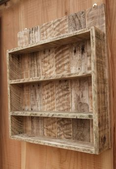 Rustic Spice Rack / Kitchen Shelf / Cabinet by NewPurposeDesign