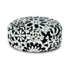 Missoni Home Missoni Home - Vevey B&N Pouf (€1.045) ❤ liked on Polyvore featuring home, furniture, ottomans, home decor, ottoman, multicolor, colorful ottomans, mod furniture, modern home furniture and black and white modern furniture